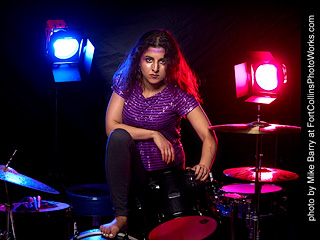 2020-08-25 Mirna on Drums Shoot